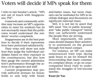 (ST) Voters Will Decide If MPs Speak For Them - https://guanyinmiao.files.wordpress.com/2011/04/voters-will-decide-if-mps-speak-for-them.png.