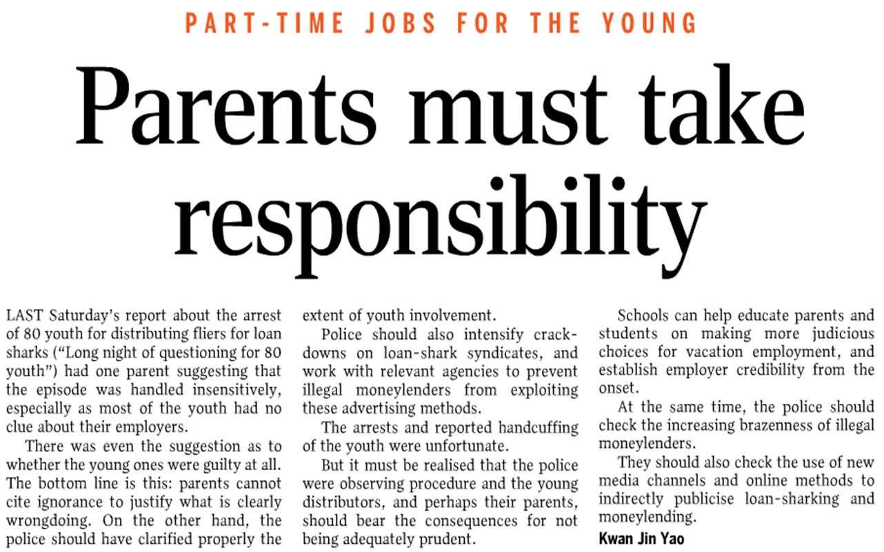 responsible parent It is essential that society support parents by issues the roles, responsibilities and rights of parents the roles, responsibilities and rights of parents.