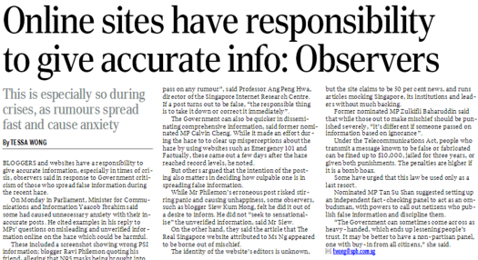 Online Sites Have Responsibility To Give Accurate Info Observers