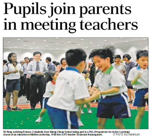 Pupils Join Parents In Meeting Teachers