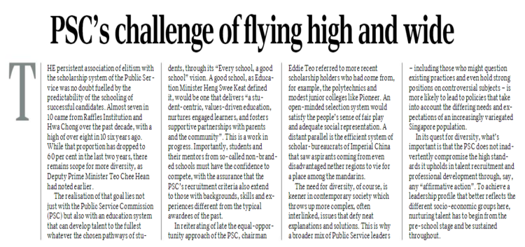 PSC's Challenge of Flying High and Wide