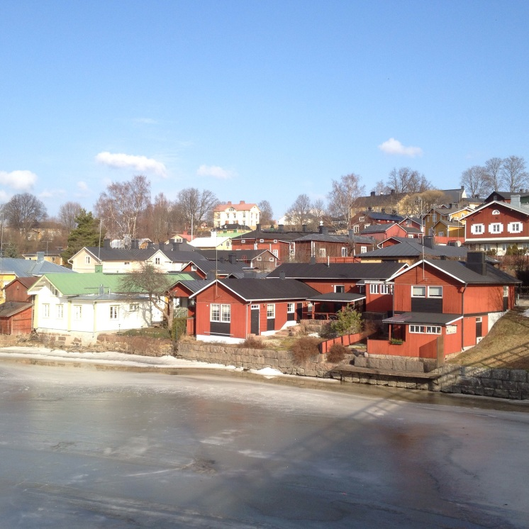 """1. Medieval Porvoo was once the second largest city in Finland, but it is now known for its beautiful """"Old Town"""", which houses a colourful collection of wooden buildings and brick houses. This is probably one of the many instances when the photograph does no justice to the charming façades of these buildings. It takes an hour to drive from Helsinki to Porvoo, and visitors are greeted by this wonderful sight before they enter the historical city."""