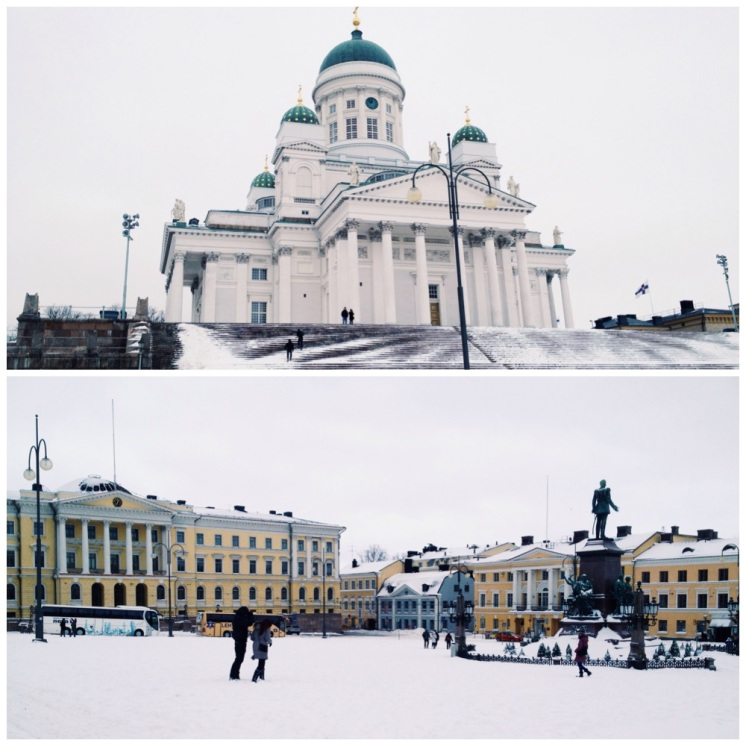 1. I have stayed in Helsinki for almost three months, and while I have had little excursions around parts of the capital city there were still sights and museums to visit. Even with discounts for students the entry into the locations can be expensive, so I purchased the Helsinki Card for a weekend trip. Pictured here (in winter) is the Helsinki Cathedral, a distinctive landmark built as a tribute to Russian Tsar Nicholas I, as well as the Helsinki Senate Square with a statue of Emperor Alexander II in the centre.