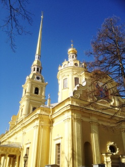 3. The first cathedral of Saint Petersburg, the Peter and Paul Cathedral is the burial location of emperors and members of the Romanov royal family. At the top of the spire an angel clutches the cross, and legend has it that its condition is tied to the well-being of the city.