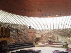 4. In the heart of Helsinki is the Temppeliaukio Church. It is also known as the Church of the Rock, because the interior was excavated and built directly out of rock. The design is a reminder of the relationship Finns have with nature and their natural surroundings, since the church is often filled with natural light and the rock walls are left exposed. In addition to its popularity as a tourist attraction the good acoustics mean concerts are regularly organised.