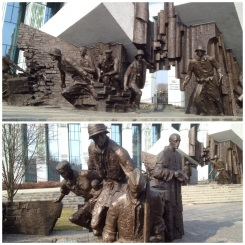 11. Two monuments commemorating the Warsaw uprising of 1944: the first depicts brave men and women who fought to liberate the city (successfully, albeit for a very short time), and the second individuals of the movement who used the sewers to evacuate. Despite crushing the belligerents the Nazis were angered by the resistance, and ordered that every building was to be razed to the ground. It was three months before the end of the war.