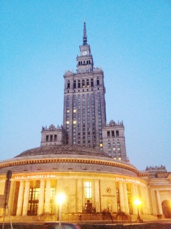 14. Sited in the centre of the city is the magnificent Palace of Culture and Science, which houses orchestras, museums, theatres, sport facilities, and public libraries.