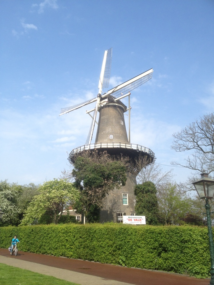 1. Most of the tourist attractions in the city of Leiden can be reached on foot. The pictured windmill – the Molen de Valk – can be spotted from the central train station, and is the only remaining miller's residence in the country. It houses a museum, which provides information of the working mill's corn-grinding mechanisms and offers a panoramic view of the city.