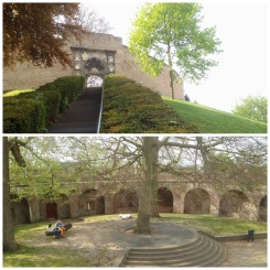 3. Atop a manmade hill is De Burcht, the Old Castle of the city. There is not much to see at the attraction (the locals do have picnics on the open space within the fort, and around the hill), but a walk around the top of the wall offers great views of Leiden.