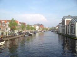 5. View of the Rijn River. Such canals (and views) are common sights across the Netherlands.