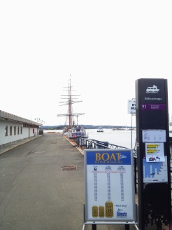 5. Waiting for the ferry - considered to be public transportation in the city - to the island of Bygdøy. If you intend to see the different museums (and, like me, do not enjoy lingering around the same location for too long), the Oslo Pass is a good investment: free public transportation, and free entry to the major locations.