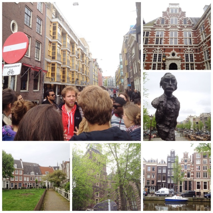 1. Free walking tours in the major European cities are often good bets. From top left, clockwise: our knowledgeable and engaging guide brought us to the junction of the Jewish district and Chinatown, the former company headquarters of the Dutch East Indies, the residential buildings constructed on dykes (20 per cent of the Netherlands is under sea level), the Old Church right next to the red light district, as well as the Begijnhof.
