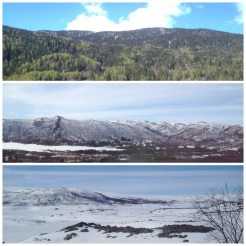11. From Oslo to Myrdal via the Bergen Railway, be on the left side of a carriage. The train ascends across the four hour journey, so the scenery changes accordingly.