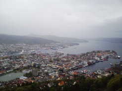 21. View of Bergen from Fløyen, after an eight minute ride up the Fløibanen Funicular.