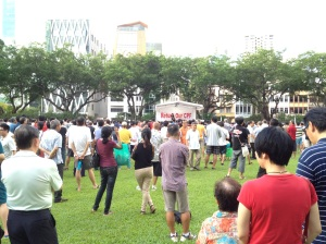 Billed as a protest against the problematic management of the Central Provident Fund (CPF), it would appear that many of the 2,000 #ReturnOurCPF protestors had turned up to hear from Mr. Ngerng.