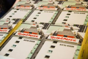 "Copies of ""Troublemaker"" at the book launch / Photo Credit: Ethos Books"