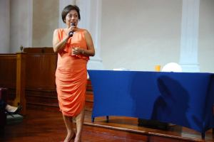 Miss Bertha Henson at the book launch / Photo Credit: Ethos Books