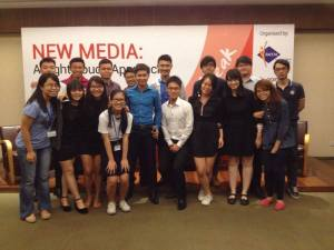 With the other panellists and the organising committee / Photo Credit: The Punggol CC Youth Club, Facebook