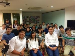 Group photo with Debra Lam and Ryan Ng of Society Staples, and Richardo Chua of Adrenalin Group.