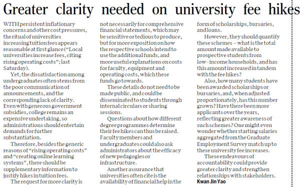 Greater Clarity Needed On University Fee Hikes