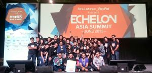 The e27 team at the Echelon Asia Summit.