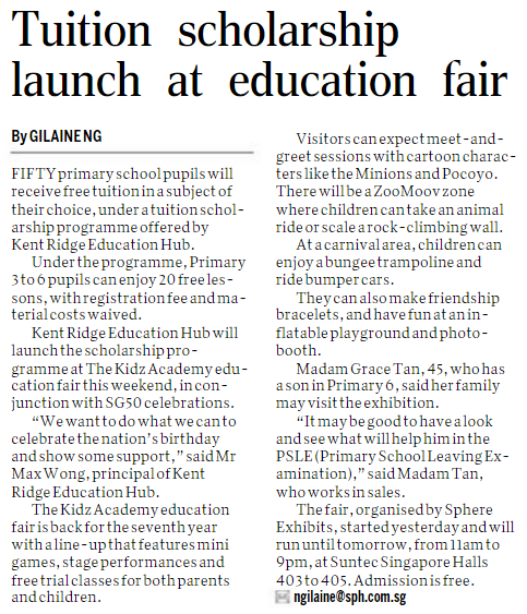 Tuition Scholarship Launch At Education Fair