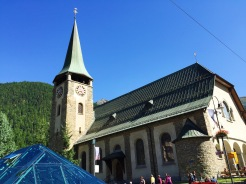 10. The church of Saint Mauritius in Zermatt, and this place of worship is right in the centre of the city, next to the Matterhorn Museum. We did not take a closer look at the historical artefacts and the ceiling painting because we were short on time, but the church is visited by both locals and tourists. There is also an English Church in the vicinity.