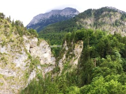 12. The view of Marienbrücke (Marie's Bridge), a bridge named by King Ludwig II after this mother Marie Friederike – from Schloss Neuschwanstein.