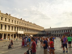 6. Most tourists would first gather at the Piazza San Marco (San Mark's Square), where the major historical buildings or religious structures of the city are located.