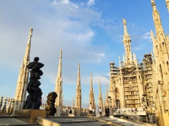 17. Right at the top of the cathedral is the Madonnina spire, a golden statue of the Virgin Mary. According to tradition, since it provides divine protection and literally overlooks the city, no building in Milan should be higher than the Madonnina.