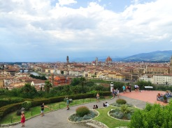 11. Panoramic view of Florence from the Piazzale Michelangelo.