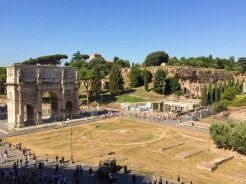 13. From the Colosseum the Arco di Constantine (Arch of Constantine) can also be seen. It commemorates a victory of Constantine the Great – the Roman emperor who reunited the empire and won major victories – and along the structure major episodes have been included.