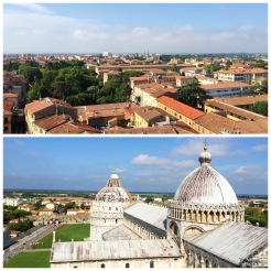 15. Views of Pisa and the Cathedral (visit to the majestic interior, with a great ceiling, is free), from the top of the Leaning Tower.