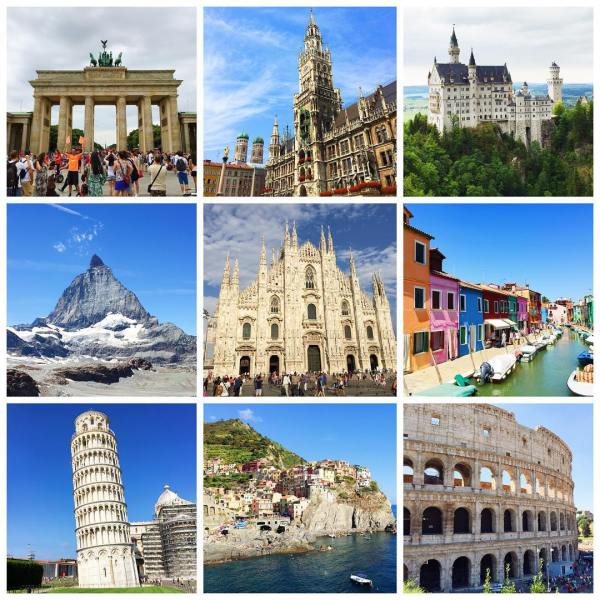 Across two weeks, we travelled to Germany, Switzerland, and Italy.
