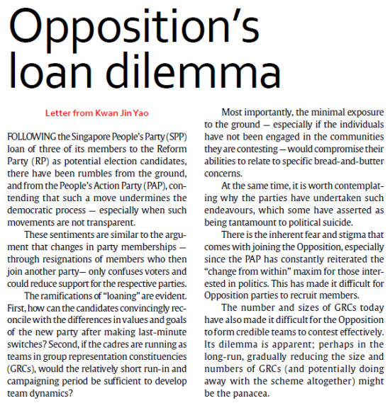 (TODAY) Opposition's Loan Dilemma - https://guanyinmiao.files.wordpress.com/2011/04/oppositions-loan-dilemma.pdf.