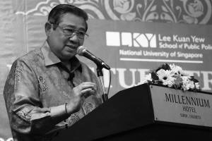 "A complex Indonesia has ""very simple needs"", for prosperity, peace, as well as justice and democracy - former President Susilo Bambang Yudhoyono (Photo Credit: Lee Kuan Yew School of Public Policy)."