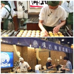 3. The parents love the Japanese red bean pancakes. Those sold in Singapore are usually pasty with a small dollop of fillings, yet the ones we had in Osaka and Kyoto were crispy on the outside, chewy on the inside, with generous servings of red bean, green bean, or even sweet potato (in Kyoto).