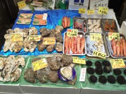 7. A wide selection of fish and seafood at the Kuromon Ichiba, or the Kuromon market. This is a treat for sashimi-lovers, but there is also the option of grilling the items and devouring them within the stall or along the streets of the market.