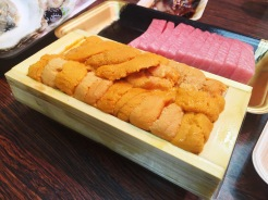 11. I had my first taste of fresh uni, or sea urchin at the Kuromon Ichiba. It is an acquired taste, yet still in huge demand within the market.