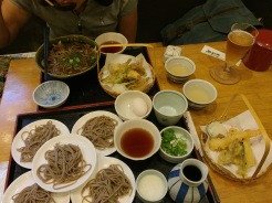 17. Our lunch of soba noodles and other accompaniments.