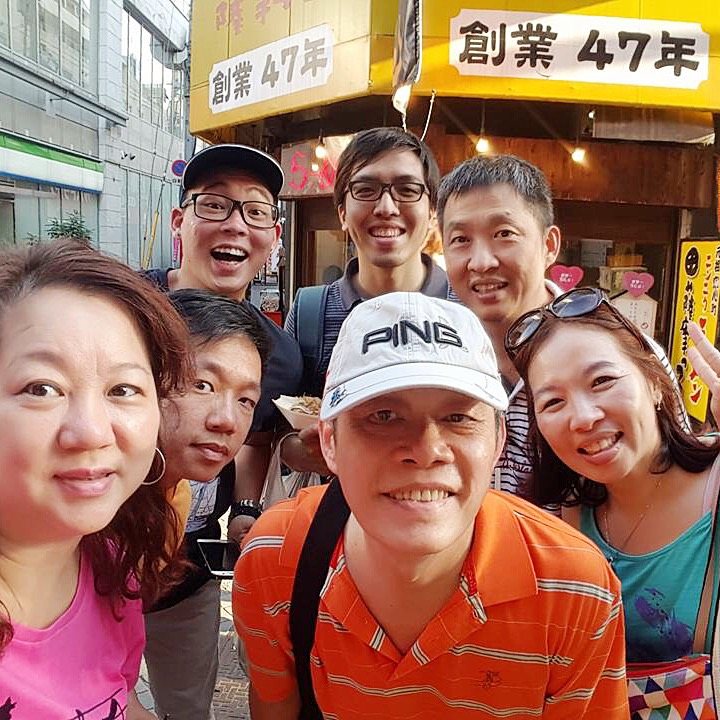 1. We went on an eight-day family holiday to Osaka and Kyoto with our neighbours. Our first stop was Dōtonbori, where we look a wefie along the Dōtonbori canal, just before the Dōtonboribashi Bridge.