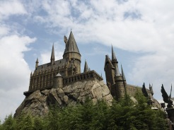12. The recreated Hogwarts Castle, towards the end of the area. In addition to the stores and eateries within the area, there is also a short walk within the castle.