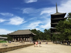 18. The third site – the Kōfuku-ji – was closest to the train station. Within the temple the five-storied pagoda stands out, though a few buildings were being refurbished.