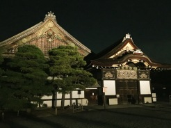 28. Usually an attraction for the day, the Nijō-jō or the Nijō Castle was open for a night festival in the summer, where its buildings and gardens were illuminated.
