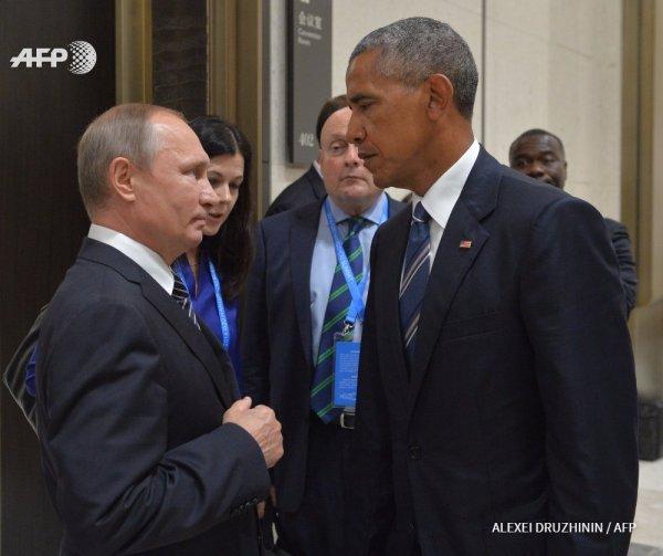 American President Barack Obama and Russian President Vladimir Putin (Alexei Druzhinin / AFP).