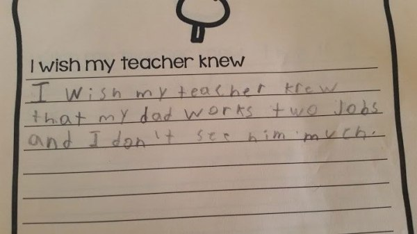 """I Wish My Teacher Knew"" (The New York Times)."