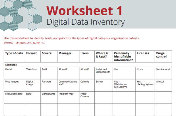 Worksheet: Digital Data Inventory