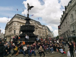16. The view at Piccadilly Circus, after a visit to the Soho area.