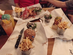 17. For Mother's Day, we had dinner at Burger and Lobster. Portions were huge, and the parents enjoyed their lobsters. Burger was great too, even if it was not the best.