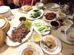 25. Second visit - in three days - to the same restaurant, this time with crispy duck, scallops, and other roasted meats